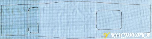 Как сделать выкройку на миллиметровой бумаге для фартука 3