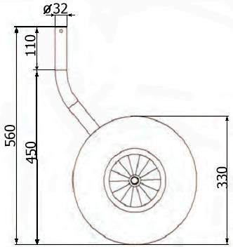 Чертежи транцевые колеса для лодки пвх своими руками